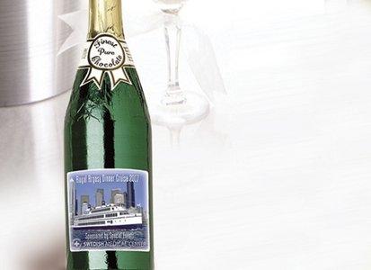 Custom Logo Chocolate Champagne Bottle