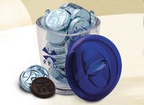 Large Acrylic Jar with 30 Chocolate Coins