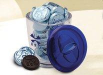 Large Acrylic Jar with 30 Chocolate Coins