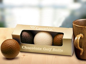 Custom Chocolate Golf Balls 
