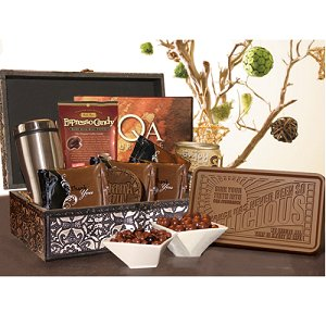 Belgian Chocolate Gift Basket with Gourmet Cocoa
