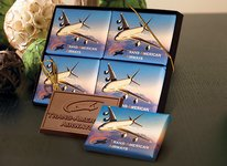 Chocolate Wrapper Bars Gift Set 2x3 4pk  (1 design, std pkg)