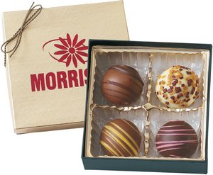 Chocolate Truffles Gift Box of 4