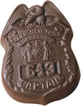 Service Badge or Police Sheild Molded in Chocolate