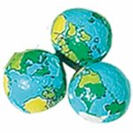 Chocolate Mini Earth Ball Foiled Party Favor