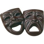 Comedy & Tragedy Molded in Chocolate 3 oz