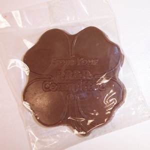 Clover Shape Molded Chocolate in Cello