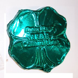 Clover Shape Molded Chocolate - Foil Wrapped