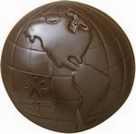 Globe / Earth / Planet Molded in Chocolate 2 lb