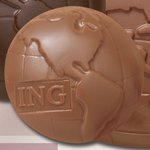 Cello Wrapped Globe Shaped Chocolate with Flat Back 1.5 oz