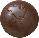 Globe / Earth / Planet Molded in Chocolate with your Logo 5 oz