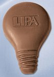 Light Bulb Molded in Chocolate 1 oz