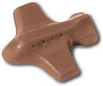 Airplane / Jet Molded in Chocolate .5 oz
