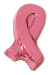 Chocolate Foiled Pink Ribbon 1oz - Awareness Ribbon