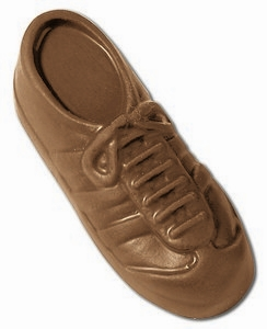 Sneaker / Running Shoe Molded in Chocolate 1 oz