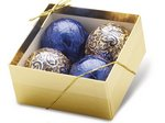Ornament 4-pack-Gold/Blue  - Stock No Logo