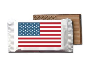 Stars & Stripes Chocolate Bars-Small - Stock