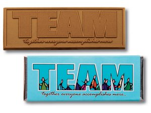 Milk Chocolate TEAM Wrapper Bars - Stock