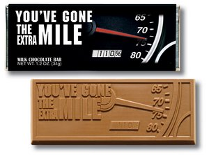 You've Gone the Extra Mile Wrapper Bars - Stock
