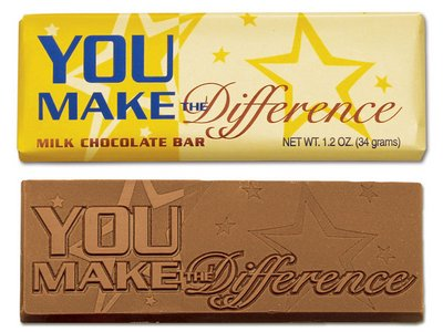 You Make the Difference Wrapper Bars - Stock
