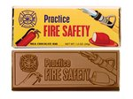 Fire Safety Chocolate Wrapper Bars - Stock