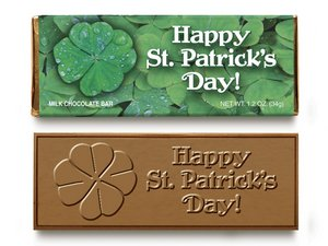 Happy St. Patrick's Day Chocolate Wrapper Bars