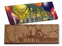 Happy Birthday Chocolate Wrapper Bars- Stock