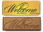 Welcome Chocolate Wrapper Bars - Stock No Logo
