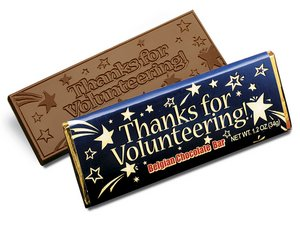 Thanks For Volunteering Chocolate Wrapper Bars 