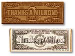 Thanks A Million Chocolate Wrapper Bars- Stock