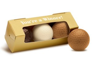 You're A Winner Chocolate Golf Ball 3-pack