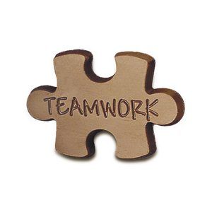 Teamwork Chocolate Puzzle Piece - Stock No Logo
