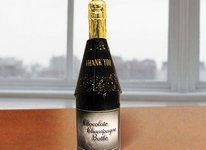 Thank You Chocolate Champagne Bottle - Stock