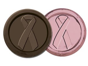 Breast Cancer Awareness Coin-Dark Chocolate