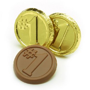#1 Coins - Milk Chocolate Number One Coin