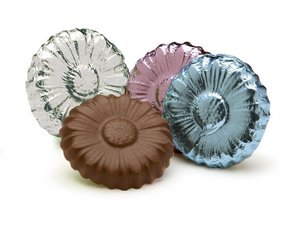 Milk Chocolate Foiled Flowers Assorted - Stock