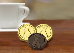 Childhood Cancer Awareness Chocolate Coin - Dark