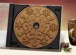 Milk Chocolate Snowflake CD  - Stock No Logo