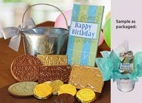 Happy Birthday Gift Pail  - Stock Design- No Logo