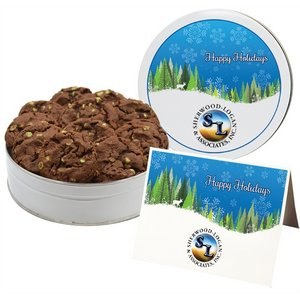 NEW Gourmet Chocolate Mint Chip Cookies - Small Tin