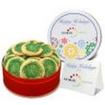 Green Sugar Cookies small Tin