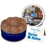 Chocolate Double Chip Cookies in Regular Size Gift Tin