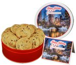 Gourmet Chocolate Chip Cookies in Logo Tin
