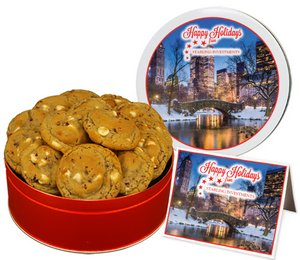 White Chocolate Cranberry Cookies in Regular Size Gift Tin