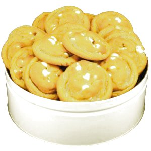 White Chocolate Macadamia Nut Cookies In Large Gift Tin