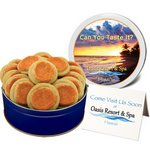 Orange Sugar Cookies in a Large Gift Tin