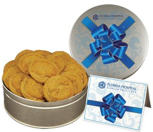 Peanut Butter Cookies In Large Gift Tin
