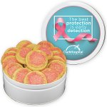 Pink Sugar Cookies In Large Gift Tin  (40 Cookies)