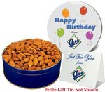 Roasted Almonds Nut Gift in a Petite Gift Tin with Imprint (6 oz)