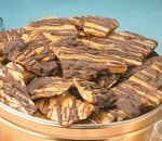 Chocolate Drizzled Pecan Brittle